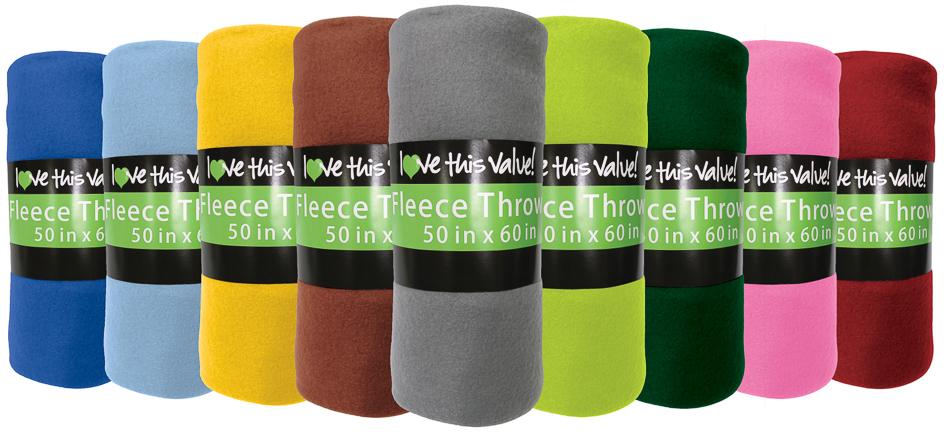 ''Solid Color FLEECE BLANKETs - 50'''' x 60'''' (414519)''
