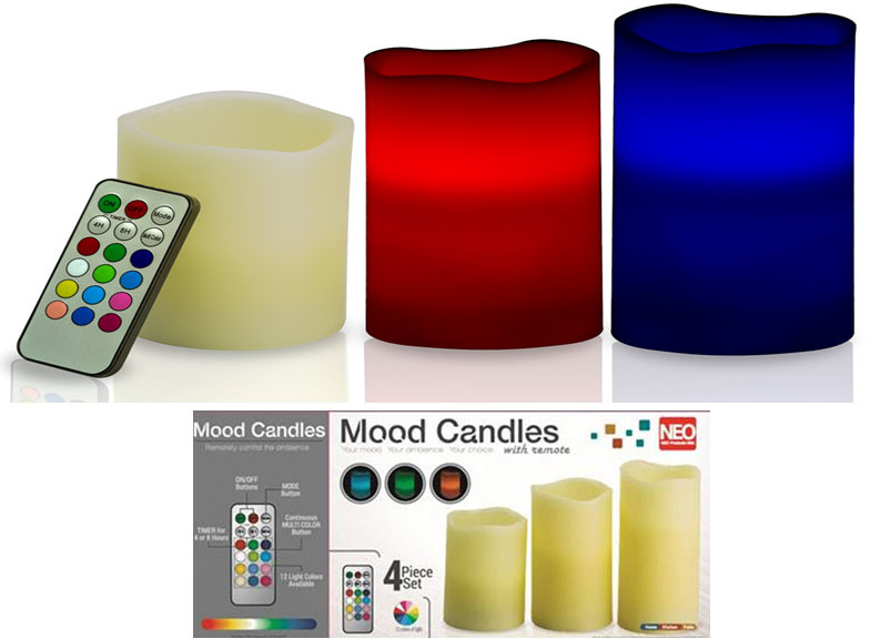 Color Changing Mood CANDLEs with Remote (2132585)