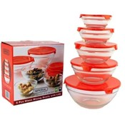 5pcs. Glass Mixing Bowl Set
