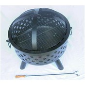 Diamond Weave Fire Pit w/ Cooking Grate Wholesale Bulk