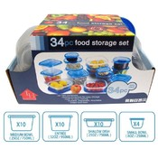 34 Piece Plastic Storage - Four Sizes