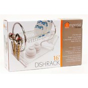 "Dish Rack 16"" Two Tier w/Red Tray"