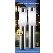 2 Pack Stainless Steel Solar Light