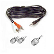 6' Audio Y Cable Slitter 1Mini Plug/2- Rca Plugs