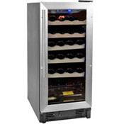 Black 26-Bottle Single-Zone Built-In Or Freestandi