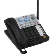 SynJ® SB67148 4-Line DECT 6.0 Corded/Cordless Phone with Digital Answering System
