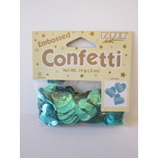 Creative Expressions Embossed Heart Teal Confetti Wholesale Bulk