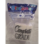 Congrats Grad II White Streamers
