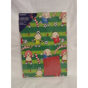 Flat Wrapping Paper- Soccer Wholesale Bulk