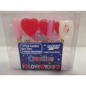 """I Love You"" Pick Candles"