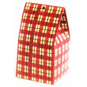 Christmas Treat Box: Red Plaid Wholesale Bulk