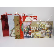 "Assorted Christmas Bags - 9"" x 7"" x 4"""