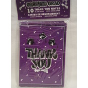 Graduation Thank You Cards- Purple