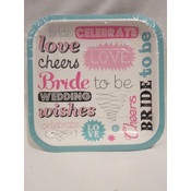 Bride To Be Plates- Teal