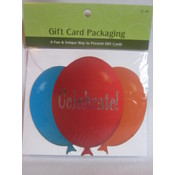 Balloon Celebrate Gift Card Holder Wholesale Bulk