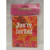 Tropical Hot Party Invitations Wholesale Bulk
