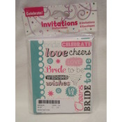 Bride To Be Invitations- Teal
