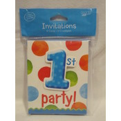 1st Party Birthday Invitations -Boy