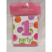 1st Birthday Invitations- Girl