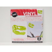 Vinyl Applique: Green T-Rex Skull Wholesale Bulk