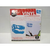 Vinyl Applique: Blue T-Rex Skull Wholesale Bulk