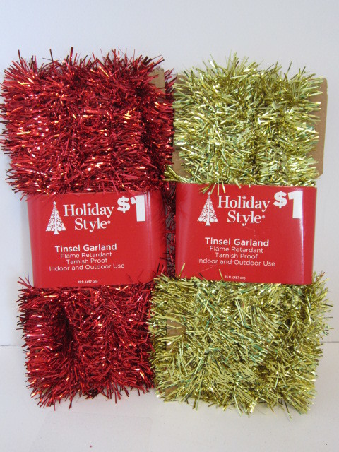 Wholesale assorted christmas tinsel garland sku