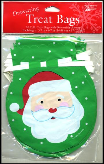 CHRISTMAS - Santa Drawstring Cello Bags [2128552]