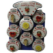 Valentine Novelty Flashing Pins