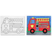 Melissa & Doug Canvas Creations - Fire Truck Wholesale Bulk