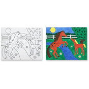 Melissa & Doug Canvas Creations - Horses Wholesale Bulk