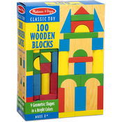 100 Wood Blocks Set