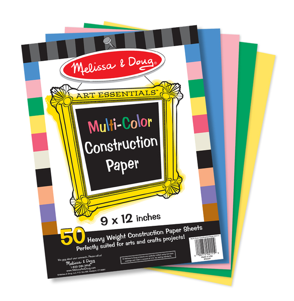 ''Melissa & Doug Multi-Color Construction Paper (9''''x12'''') (538869)''