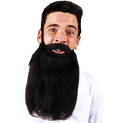 Mustache Beard Brown 14In