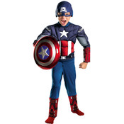 Toddler Boy's Costume: Captain America Avengers Muscle- 3T/4T