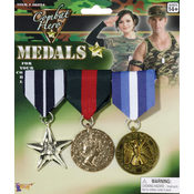 Costume Jewelry: Combat Hero Medals Wholesale Bulk