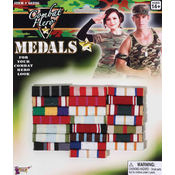 Costume Jewelry: Combat Hero Medals- Bars Wholesale Bulk