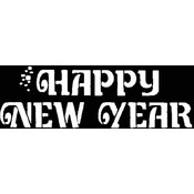 Stencil Happy New Yr Stainless Wholesale Bulk