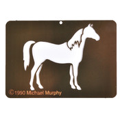 Stencil Horse Brass