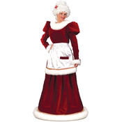 Santa Mrs. Velvet Dress Medium Large (Pack of 1)