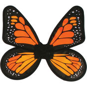 Wings Butterfly Satin Adult Yellow