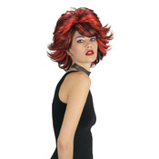 Choppy Wig Red Black Wholesale Bulk