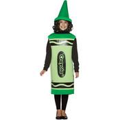 Girl's Costume: Crayola Child Green Medium Wholesale Bulk