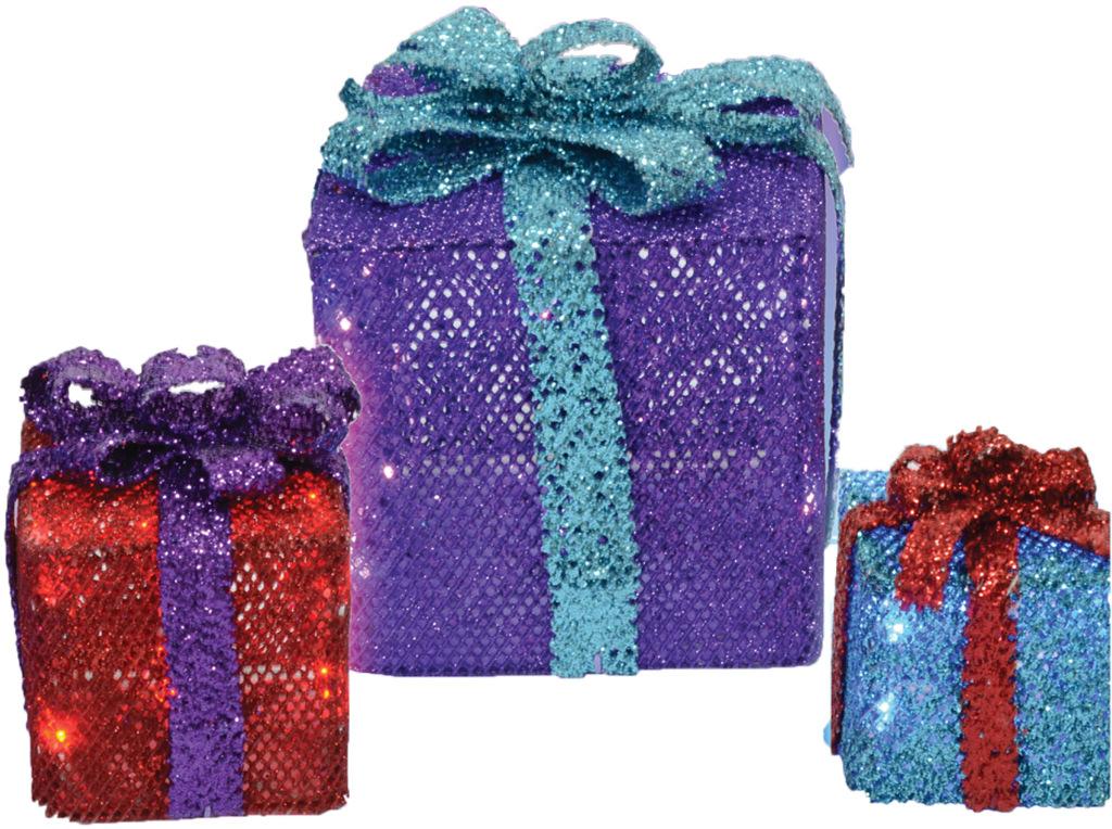 CHRISTMAS Supplies: 3 Mesh Gift Boxes [1454811]