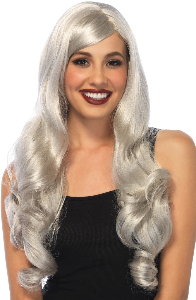 Costume Accessory: WIG Long Wavy | Grey [2002830]