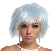 Punky Pixie Wig White-Blue Wholesale Bulk