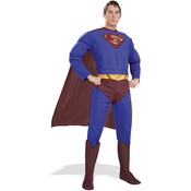 Superman Costume - Adult Muscle Small