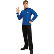 Star Trek Deluxe Men's Blue Costume Shirt Sm/Med