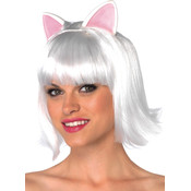 Costume Wig: Kitty Bob- White Wholesale Bulk