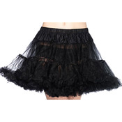 Black Tulle Layered Petticoat Plus Size