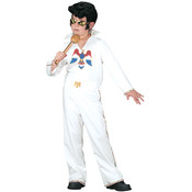 Boy's Costume: Elvis White Jumpsuit Small 4-6 Wholesale Bulk